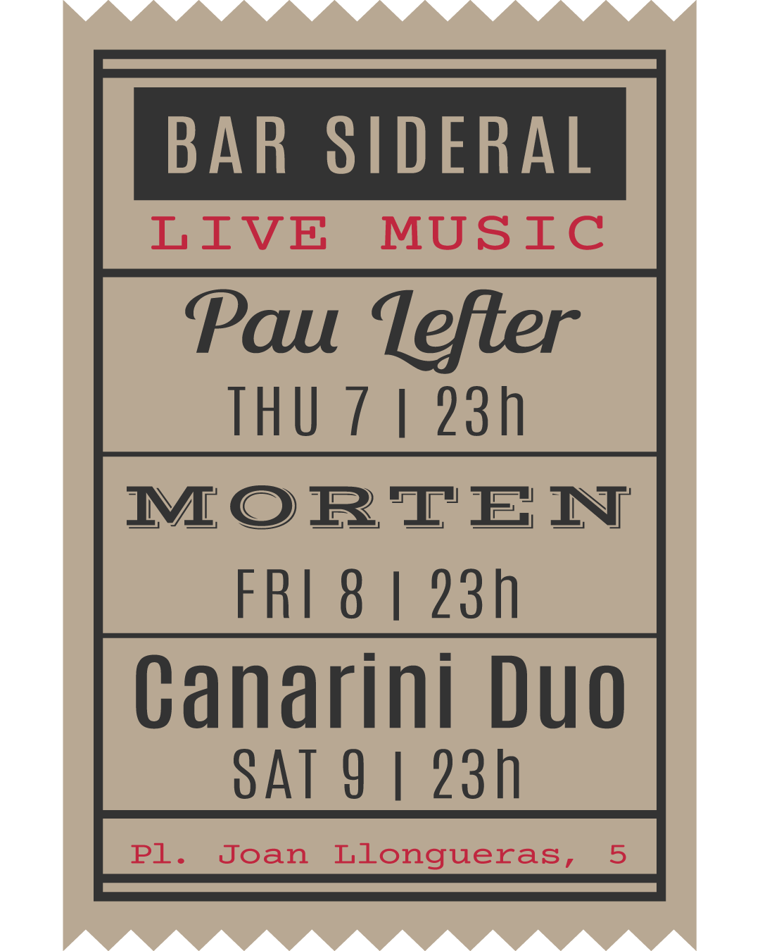 Bar Sideral (conciertos)