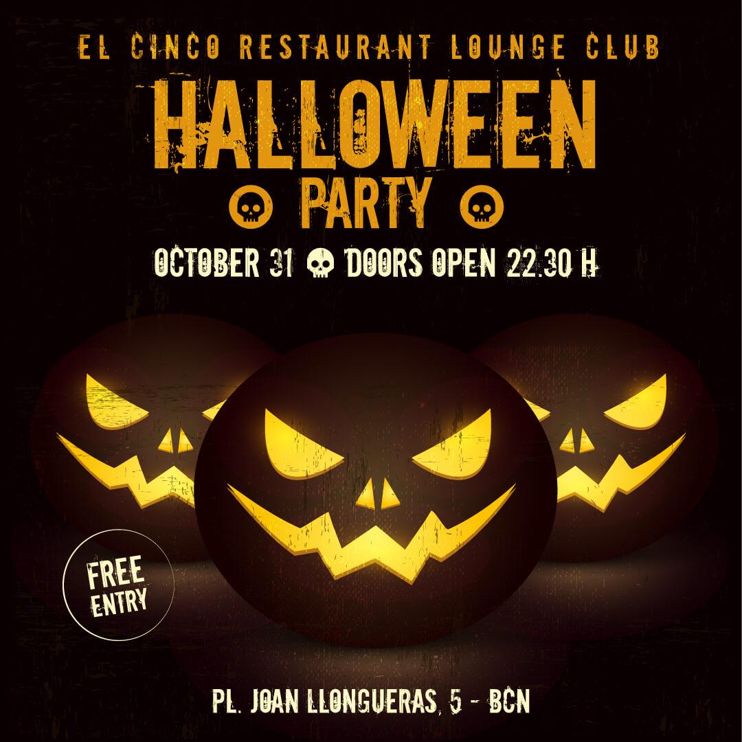 El Cinco Barcelona (flyer Halloween)