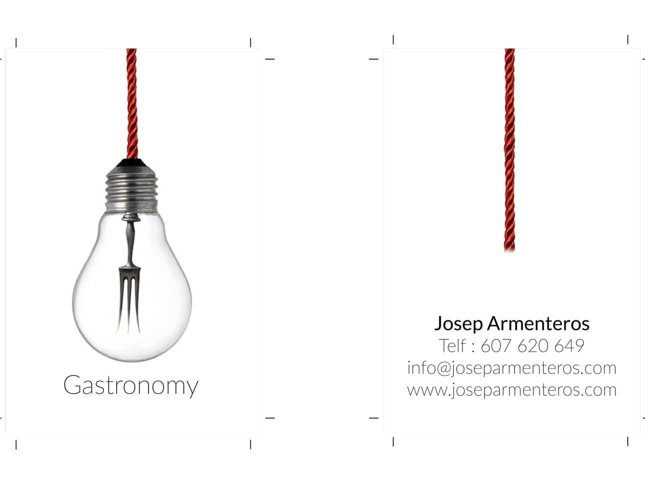 Josep Armenteros Gastronomy (tarjeta)